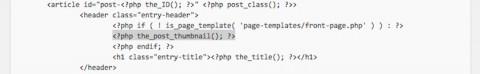 個別ページのアイキャッチ画像位置変更/content-page.phpのコード削除位置