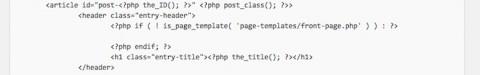 個別ページのアイキャッチ画像位置変更/content-page.phpのコード削除後